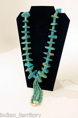 Authentic Navajo Turquoise Heishi Necklace