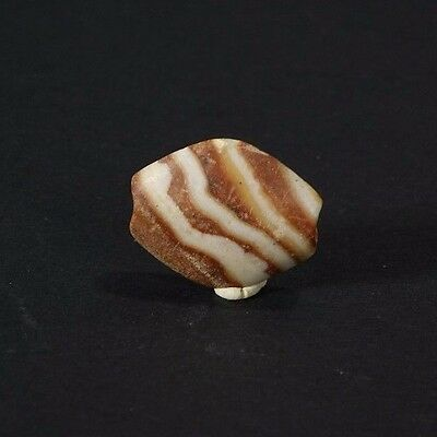 *Aphrodite Gallery* WESTERN ASIATIC CARAMEL COLORED BANDED AGATE BEAD