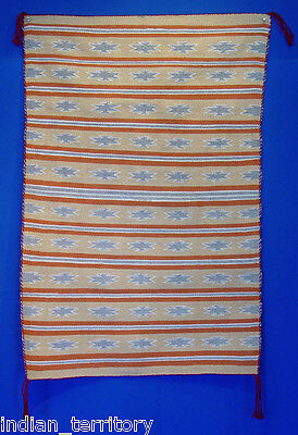 Navajo Indian Rug with Yellow Field c.1980