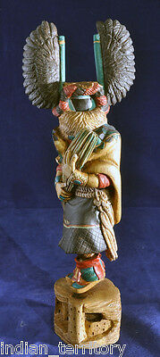 Finely Hand-carved Hopi Crow Mother Kachina by Kevin Pochoema - Exquisite Detail