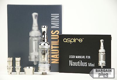 Aspire Nautilus Mini Authentic Bottom Vertical Coil BVC Tank Airflow System NEW