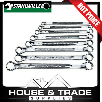 Stahlwille 8 Piece Double ended ring spanners; 6x7-20x22 mm 96410704 SW/28