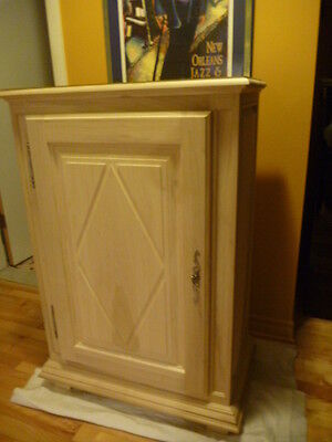 Hand crafted poplar cabinet - New France style