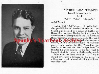 1932 Lowell Technical School Yearbook~Photos~History~Football~Fraternities~++++