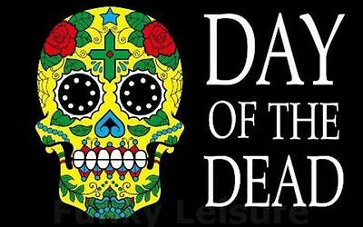 5' x 3' Day of the Dead Flag Halloween Mexico Mexican Festival Party Banner