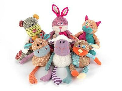 NEW Intelex WARMIES Knitted Microwavable Soft Toys: Lavender Scented - 6 Animals