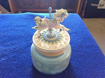 Carousel Candle Lid Avon 2002