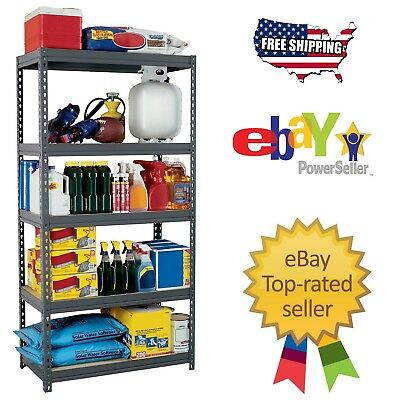 "New Edsal Heavy Duty Boltless Rivet Garage Storage Shelving Rack 36"" x 18"" x 72"""