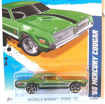 2012 Hot Wheels MUSCLE MANIA FORD #119 * '68 MERCURY COUGAR * KMART EXCLUSIVE