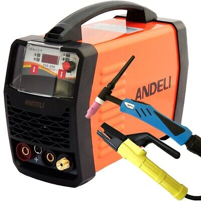 200 Amp Hf Ignition Tig/mma Igbt Dc Inverter Welder Duty Cycle 60% + Accessories