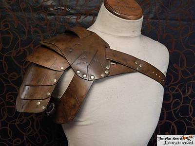 Gladiator spartacus leather shoulder armor , high quality! SCA, LARP