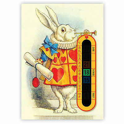 A6 Nursery, Baby and Childrens White Rabbit Room Thermometers