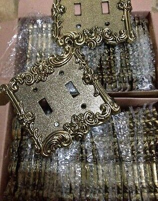 56 Brass Gold Cas Victorian Rose Vine Outlet Switch Plate Covers vintage antique