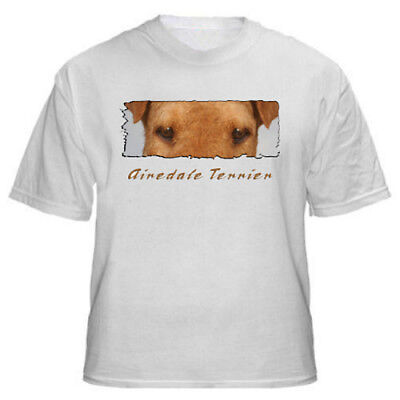 """Airdale Terrier  """"Eyes Have It""""   custom   T shirt"""