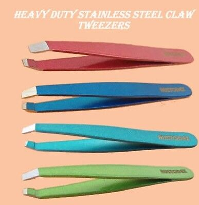 Professional stainless steel beauty eyebrow Arched -Claw slanted tweezers