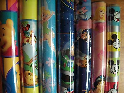 """Disney Wrapping Paper Ambassador 15 sq ft 30"""" Rolls Hard To Find Kids Gift Wrap"""