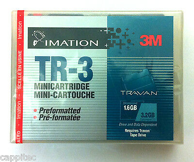 3M Imation Tr-3 Travan 1.6Gb/3.2Gb Cartridge For Tape Streamer, New Sealed Stock