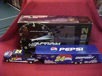 2002 JEFF GORDON #24 DUPONT / PEPSI /  DAYTONA 1/24 SHOW TRAILER COLLECTION