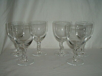 """Lot of 6 Fostoria Contour 5 7/8"""" Water Goblets"""