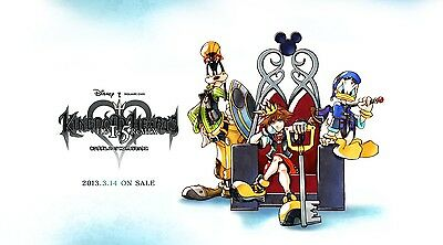 Kingdom Hearts Huge Poster  22 x 34 Fast Shipping in Tube Beautiful 1009
