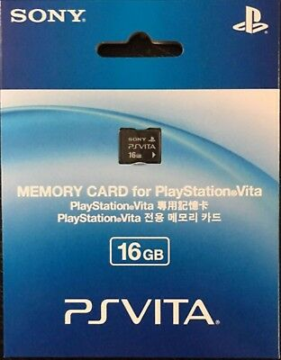 OFFICIAL SONY PS Vita PLAYSTATION PSV Memory Card 16GB Brand NEW Sealed