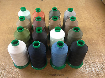 BONDED NYLON 20s THREAD Tkt METRIC 20s 1500m OXLEY VENUS, HEAVY, THICK THREAD