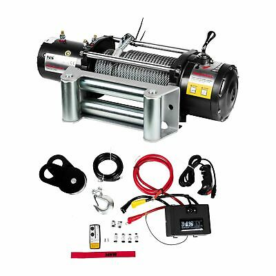ROPE WINCH - 4310kg ELECTRIC RECOVERY HOISTING PROFESSIONAL WIRE HOIST 12V NEW