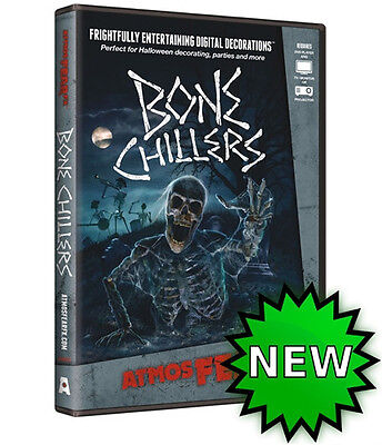 Bone Chillers DVD, Virtual Halloween Window Projection Prop by AtmoseFearFX