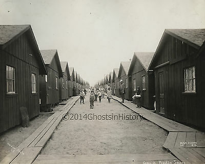 1906~Original Charles Weidner Photo~San Francisco Refugee Camp~Children~Cottages