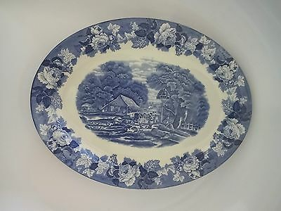 "Vintage Woods And Son ""woodsware"" English Scene 14 Inch Platter"
