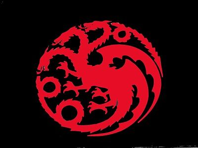 Targaryen Dragon Game Of Thrones Kalessi  Daenerys Vinyl Decal Sticker 75013