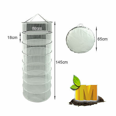 Dry Net 8 Tier 59cm Herb Drying System Net Grow Tent Air Hydroponic & Carry Bag