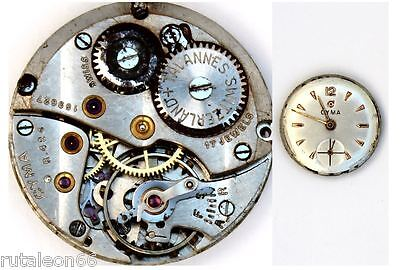 CYMA R.424  original watch movement. Swiss made for parts / repair   (1184)