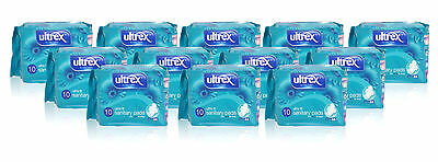 12x Ultrex ULTRA FIT with Wings 10 Sanitary Pads Towels NORMAL Absorption Ladies