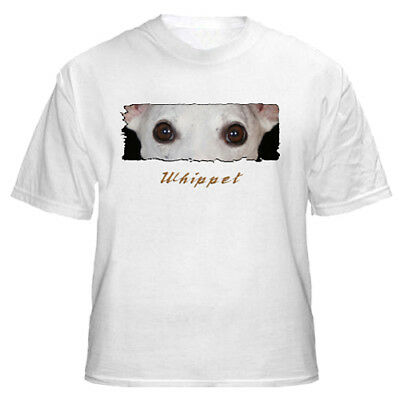 """Whippet   # 1  """" The Eyes  Have It  """" Custom   T shirt"""