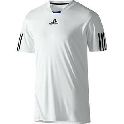 adidas Mens / boys white Barricade tennis top. Sports top. Various sizes!