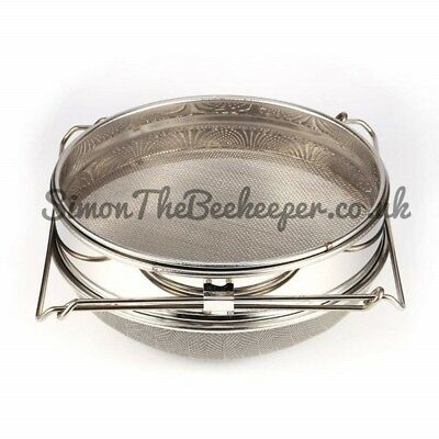 Stainless steel Sliding double honey strainer