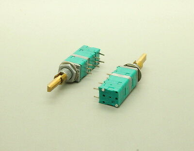 2 x 9mm ALPS Dual Concentric Momentary Spring Return Rotary Switch w Push Switch