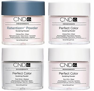 CND CREATIVE NAIL ACRYLIC POWDER - INTENSE PURE PINK CLEAR WHITE retention +