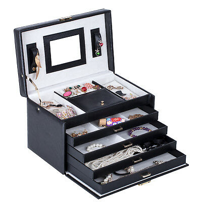 Black Friday Jewellery Box Casket Beads Costume Necklace Gift Organizer Case