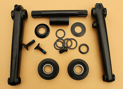BMX 3pc Cromo Crank set 19mm solid cromo axle, sealed bearings, 175mm cranks