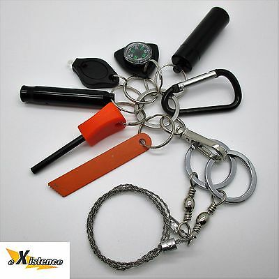 BELT CLIP KEYRING SURVIVAL KIT scouts cadets military camping hiking bushcraft