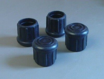 """4 Pack 1-1/4"""" Rubber Tips- Cane, Crutch or Chair       CT-1.25-B"""