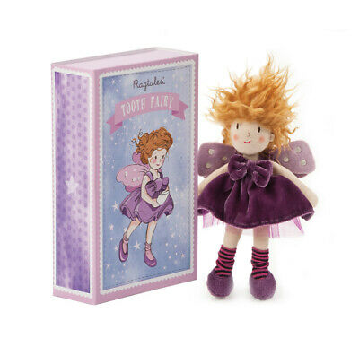 New Ragtales Tooth Fairy Girl Doll Soft Toy in Storage Gift Box 0m+