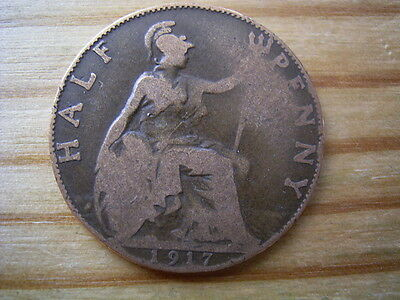 1917  georgev   halfpenny collectable