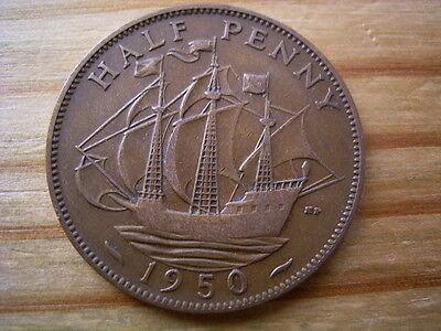 1950  georgev1   halfpenny collectable