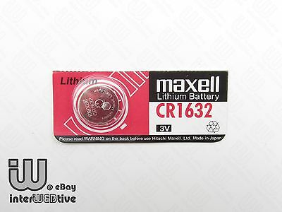 2 Pieces New in Package Maxell CR1632 1632 ECR1632 Coin Cell Battery 3V