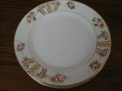 set of 5 hand painted NIPPON  BREAD  AND  BUTTER  PLATES unknown pattern 6  1/4""