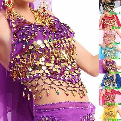 Belly Dance Costume Tribal Choli Top Beads Colorful Bells Free Shipping 8 colour