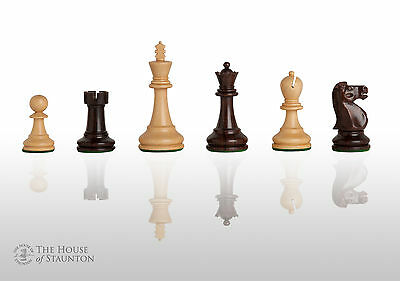 """The Reykjavik II Chess Set - Pieces Only - 3.25"""" King - Indian Rosewood"""